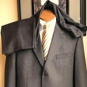 Ralph Lauren Brown Pinhead 2 Pc Wool Suit 44L